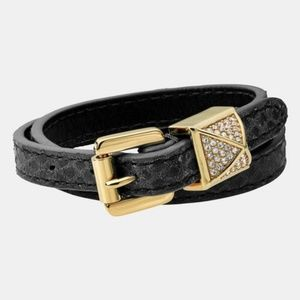 Jewelry - Michael Kors 'Glam Rock' Leather Wrap Bracelet